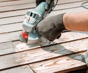 Angle Grinder Sanding