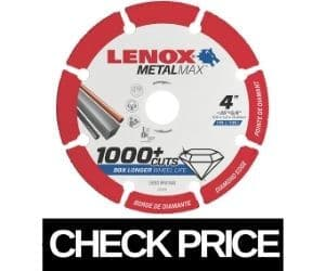 LENOX - Metal Cutting Blade for 4 Inch Grinder